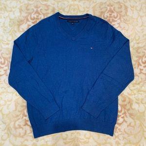 Blue Tommy V-Neck Sweater